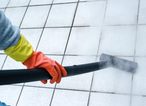 cleaning white tiles
