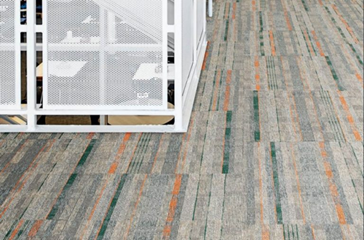 multi-color carpeting